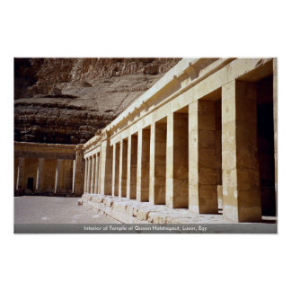 Interior of Temple of Queen Hatshepsut, Luxor, Egy Posters