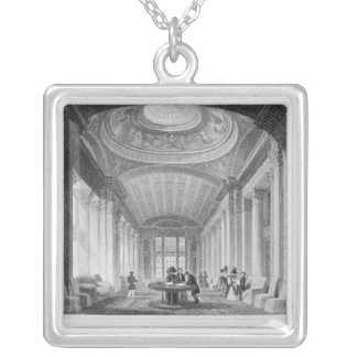Interior of the Advocate's Library, Edinburgh Silver Plated Necklace
