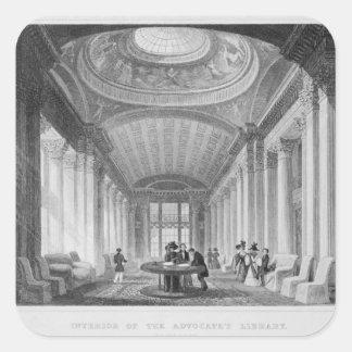Interior of the Advocate's Library, Edinburgh Square Sticker
