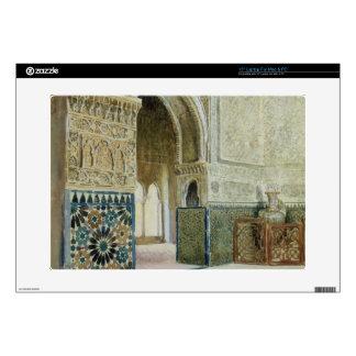 Interior of the Alhambra, Granada (w/c) Decals For Laptops