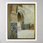 Interior of the Alhambra, Granada (w/c) Poster