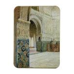 Interior of the Alhambra, Granada (w/c) Rectangular Photo Magnet