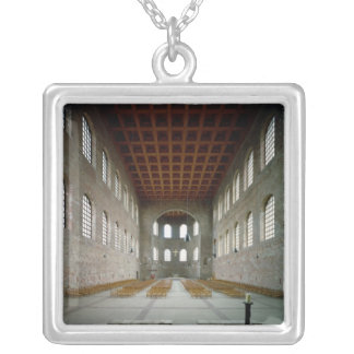 Interior of the basilica, early 4th century AD Silver Plated Necklace
