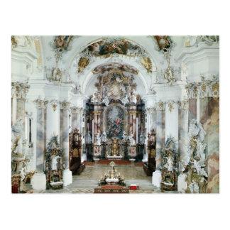 Interior of the benedictine abbey church postcard