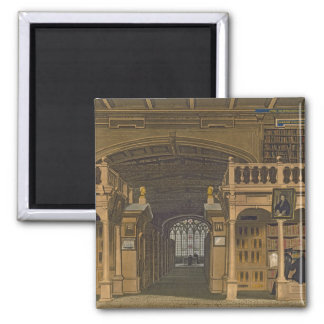 Interior of the Bodleian Library, illustration fro 2 Inch Square Magnet