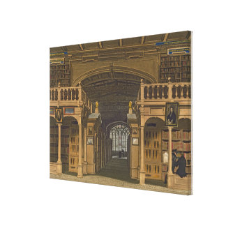 Interior of the Bodleian Library, illustration fro Canvas Print