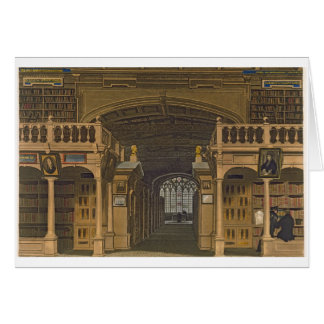 Interior of the Bodleian Library, illustration fro Card