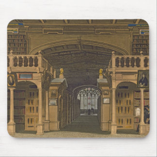 Interior of the Bodleian Library, illustration fro Mouse Pad