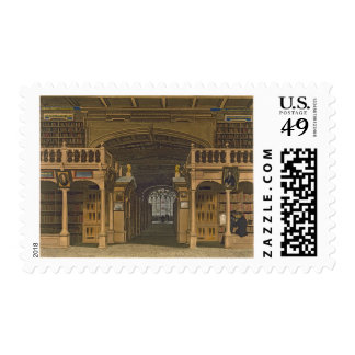 Interior of the Bodleian Library, illustration fro Postage