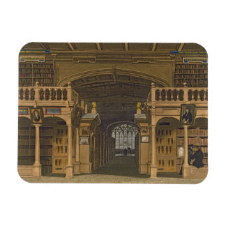 Interior of the Bodleian Library, illustration fro Rectangular Photo Magnet