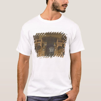 Interior of the Bodleian Library, illustration fro T-Shirt