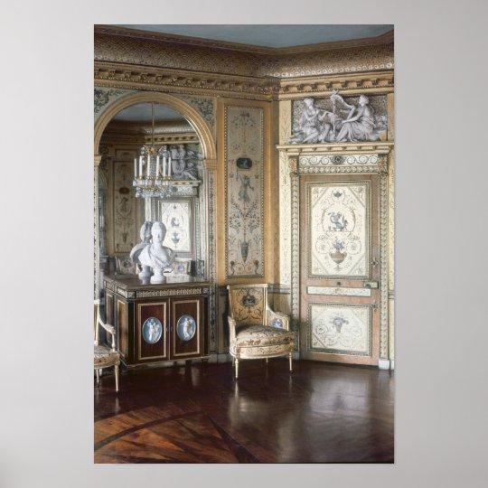 Interior of the boudoir of Marie Antoinette Poster
