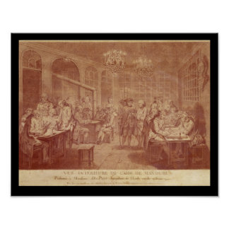Interior of the Cafe Manouri, c.1775 Poster