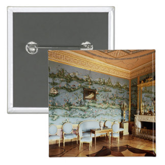 Interior of the Chinese Blue Drawing Room Pinback Button