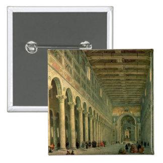 Interior of the Church of San Paolo Fuori le Pinback Button