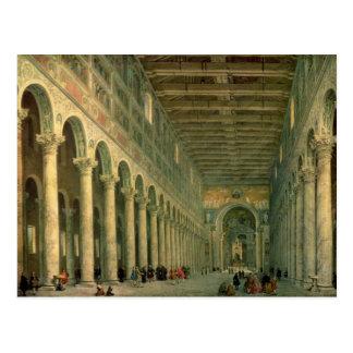 Interior of the Church of San Paolo Fuori le Postcard
