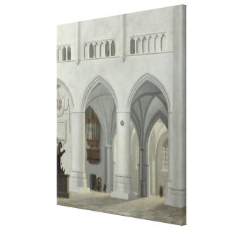 Interior of the Church of St. Bavo, Haarlem Canvas Print
