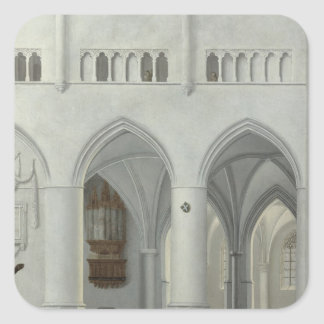 Interior of the Church of St. Bavo, Haarlem Square Sticker