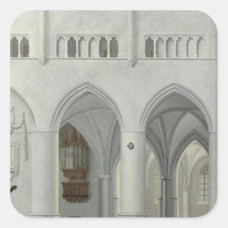 Interior of the Church of St. Bavo, Haarlem Square Sticker