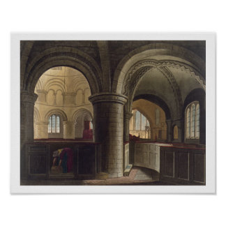 Interior of the Church of the Holy Sepulchre, Camb Poster