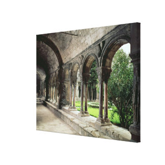 Interior of the cloister 2 canvas print