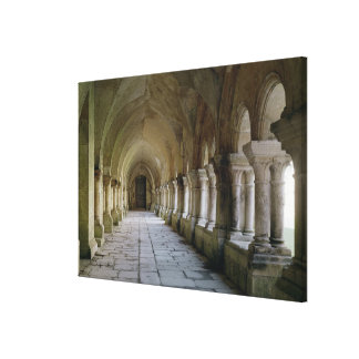 Interior of the cloister stretched canvas print