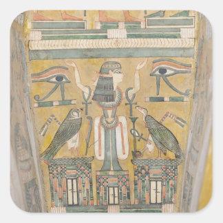 Interior of the coffin of Imenemipet Square Sticker