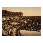 Interior of the Colosseum, Rome, Italy Posters