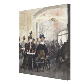 Interior of the Concert Rouge Canvas Print