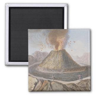 Interior of the Cone of Vesuvius Before the 1767 E 2 Inch Square Magnet