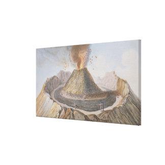 Interior of the Cone of Vesuvius Before the 1767 E Canvas Print