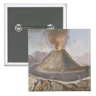 Interior of the Cone of Vesuvius Before the 1767 E Pinback Button