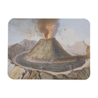Interior of the Cone of Vesuvius Before the 1767 E Rectangular Photo Magnet