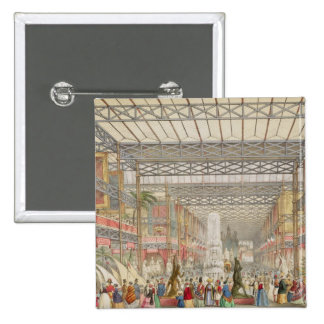 Interior of the Crystal Palace, pub. by Stannard a Pinback Button