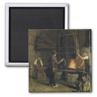 Interior of the Forge, 1837 2 Inch Square Magnet