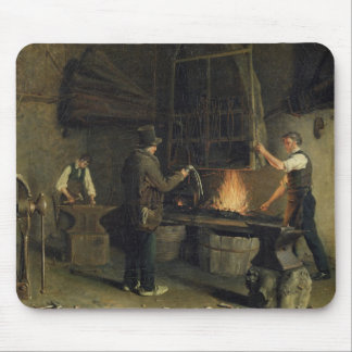 Interior of the Forge, 1837 Mouse Pad
