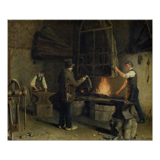 Interior of the Forge, 1837 Poster
