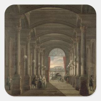 Interior of the Gare Saint-Lazare Square Sticker