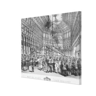 Interior of the 'Grand Cafe Parisien', Paris Canvas Print