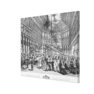 Interior of the 'Grand Cafe Parisien', Paris Canvas Print