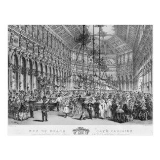 Interior of the 'Grand Cafe Parisien', Paris Postcard