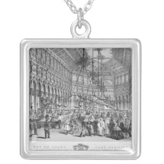 Interior of the 'Grand Cafe Parisien', Paris Silver Plated Necklace
