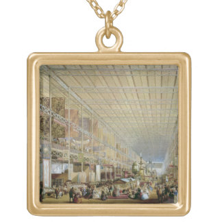 Interior of the Great Exhibition of All Nations, 1 Gold Plated Necklace