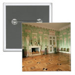 Interior of the Green Dining Room 2 Inch Square Button