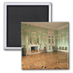 Interior of the Green Dining Room 2 Inch Square Magnet
