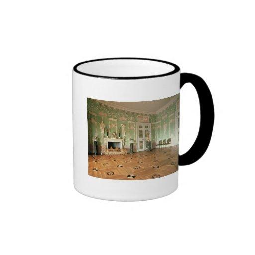 Interior of the Green Dining Room Ringer Coffee Mug