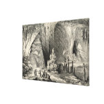 Interior of the Grotto of Antiparos Stretched Canvas Print