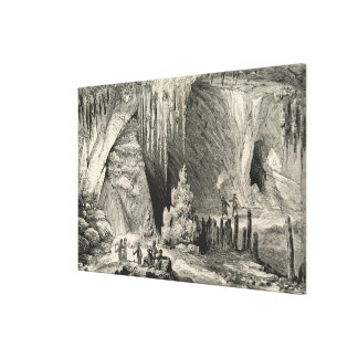 Interior of the Grotto of Antiparos Canvas Print