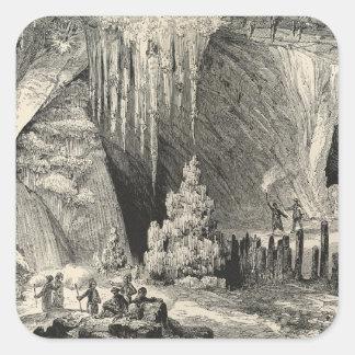 Interior of the Grotto of Antiparos Square Sticker