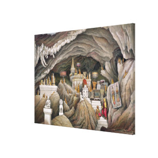 Interior of the grotto of Nam Hou, Laos, from 'Atl Gallery Wrap Canvas